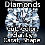 It is interesting to note that diamonds actually come in the widest variety of colors of any gem material. Most gem quality diamonds however are desired for their lack of color. In fact, the closer a diamond is to colorless, the more rare and valuable it is.